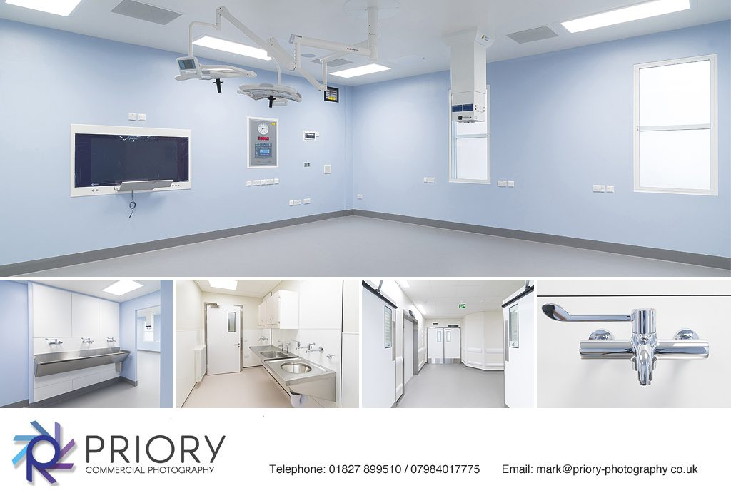 Internal theatre photography at UCL Hospital, London